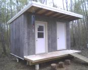 Cooler shed with new (used) siding
