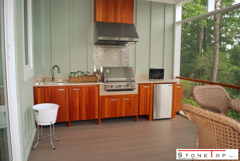 how to tile outdoor kitchen countertops