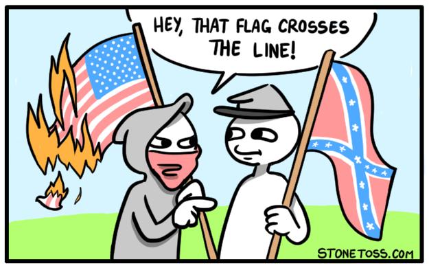 anti flagist action