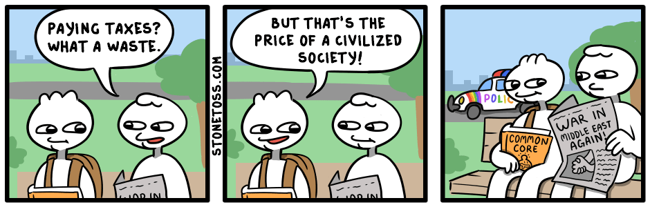 comic about paying taxes