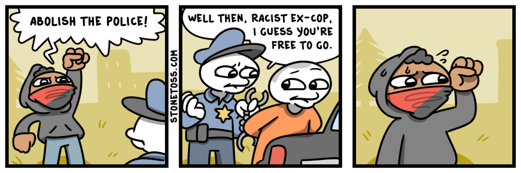 Comic about BLM and anarchists abolishing police.