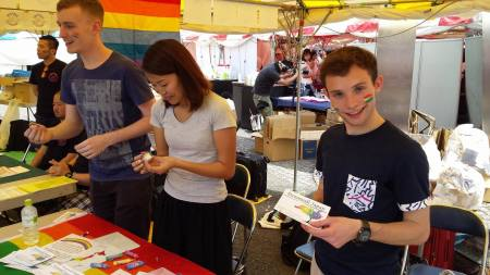 volunteers at Stonewall Japan booth