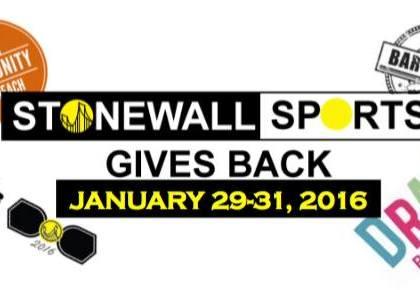 Stonewall Sports Gives Back