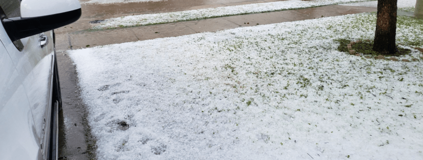 Large Dfw Hail Looked Like Snowstorm Stonewater Roofing