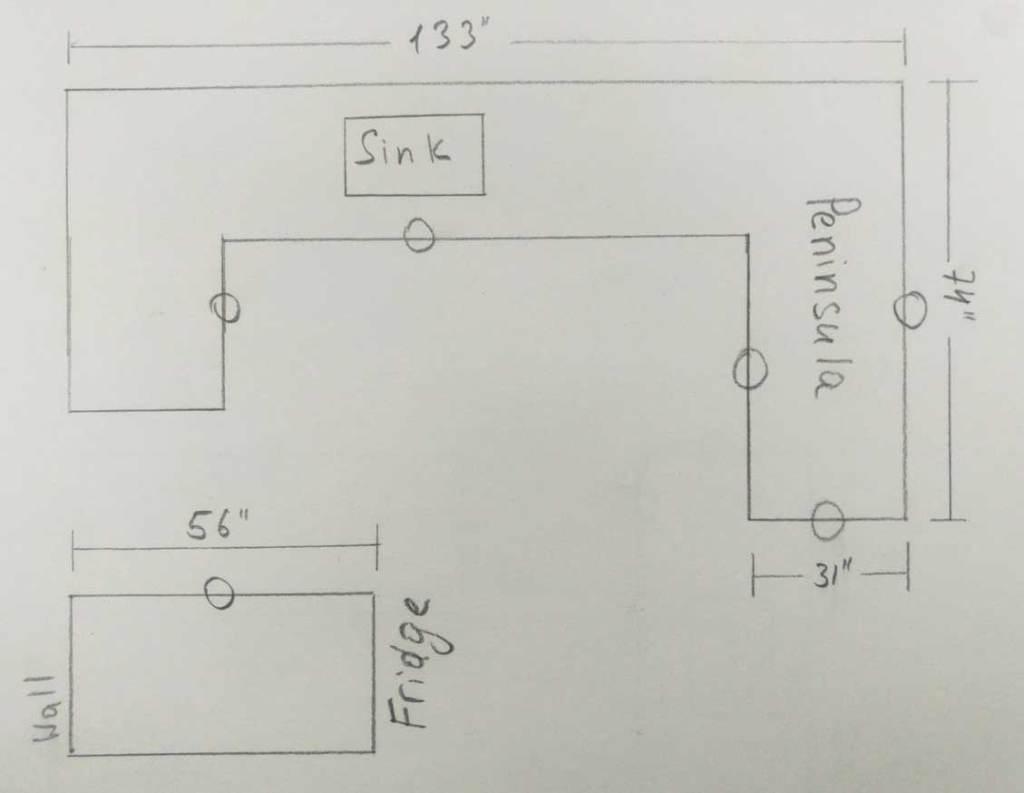 sample of simple countertop sketch