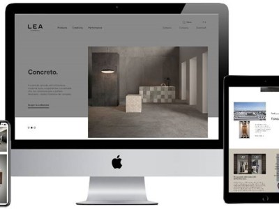 Lea Ceramiche, a distinctive style on-line as well: the new website is nowavailable.