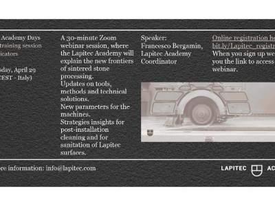 Lapitec Academy: free online training sessions for fabricators