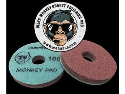 Weha 4″ Monkey Quartz Face Polish Surface Polishing Pad for Quartz, Engineered Stone, Marble, Granite.
