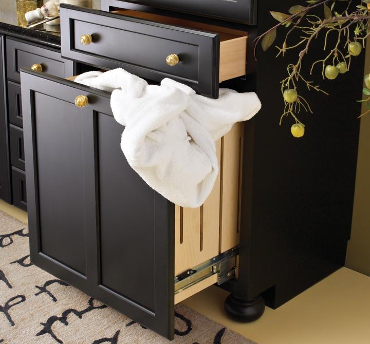 functional built in laundry hamper