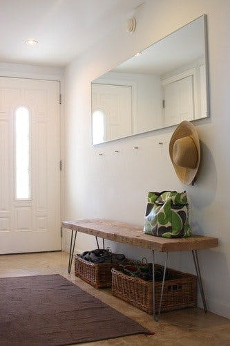 Minimalist mudroom