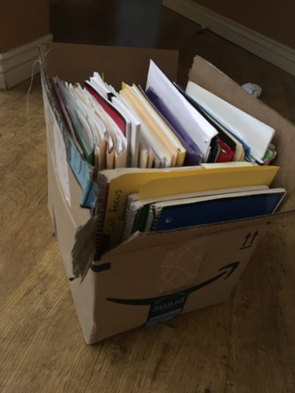 old paperwork to declutter