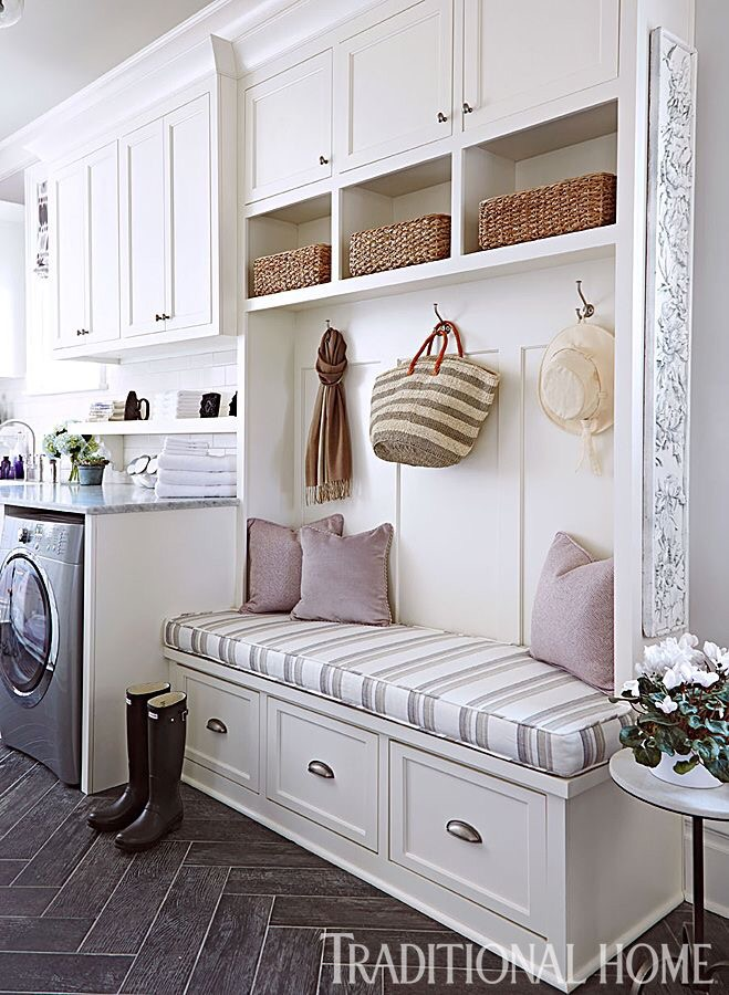 Laundry mudroom combo