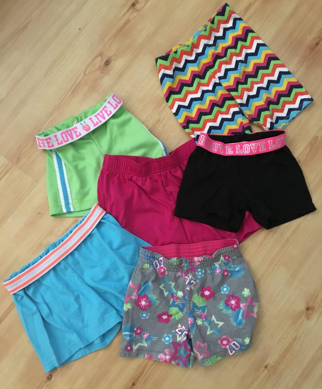 $1 shorts frugal clothes at walmart