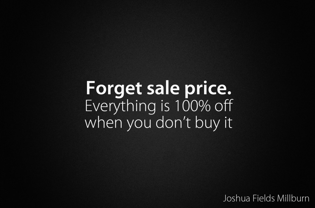 Image result for buying things because they are on sale