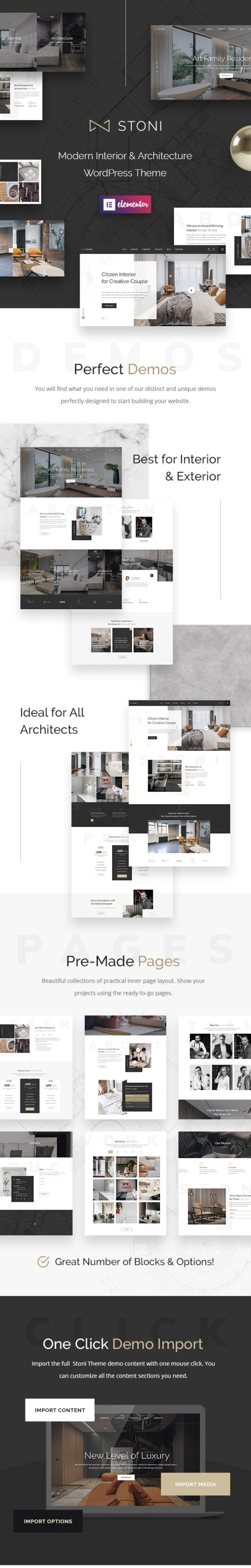 Stoni - Architecture Agency WordPress Theme - 1