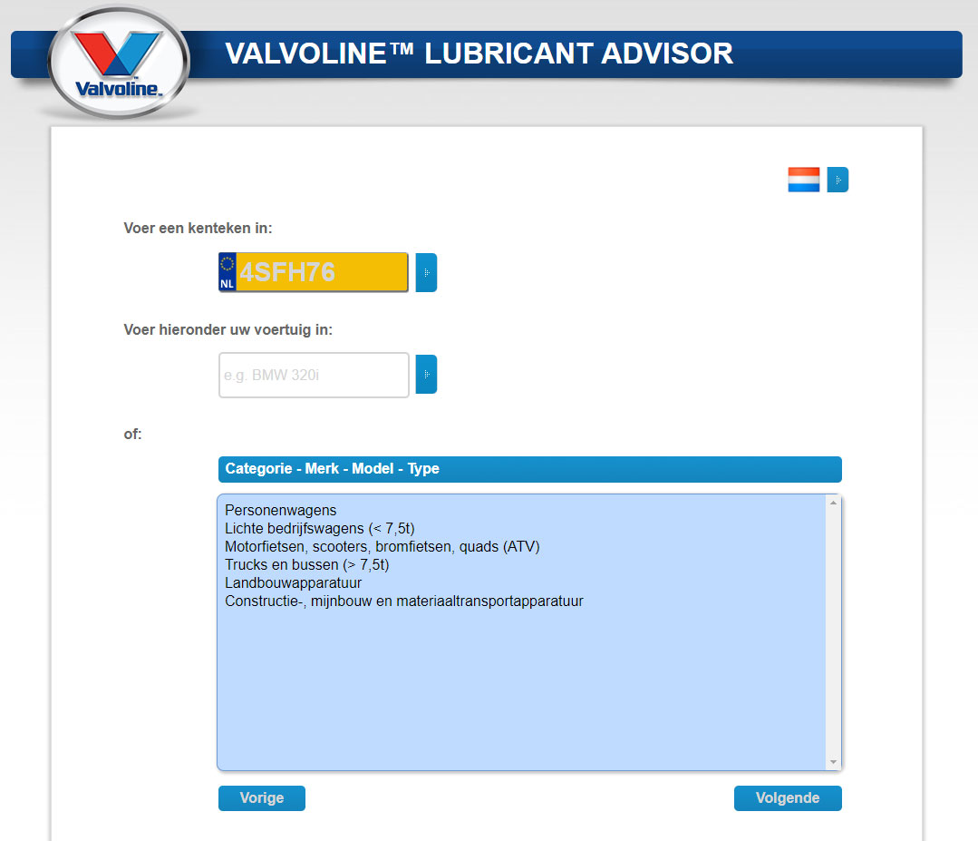 VALVOLINE-LUBRICANT-ADVISOR