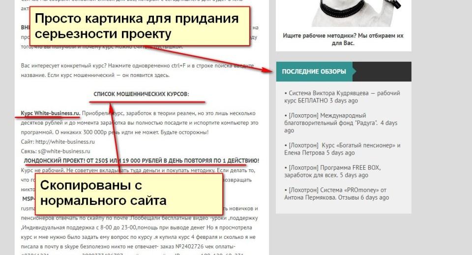 Сайт Анти-Лохотрон, Система Виктора Кудрявцева