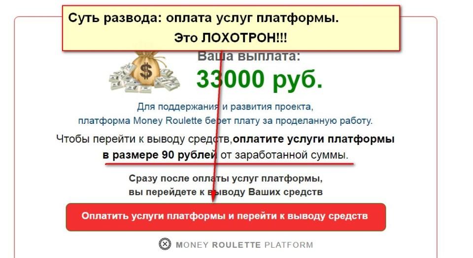 Money Roulette, ежедневная денежная рулетка
