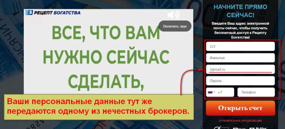 Рецепт Богатства, Виктор Синцов