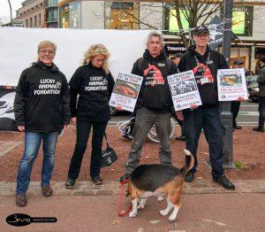 S.E.A. Suppression des Expériences sur L'Animal. avec Dany Dumbruch et vice président de Suppression des Expériences sur l'Animal asbl Yves DALCQ.