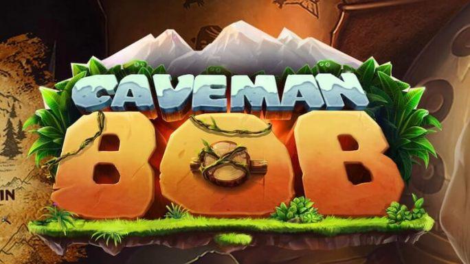 caveman bob slot logo