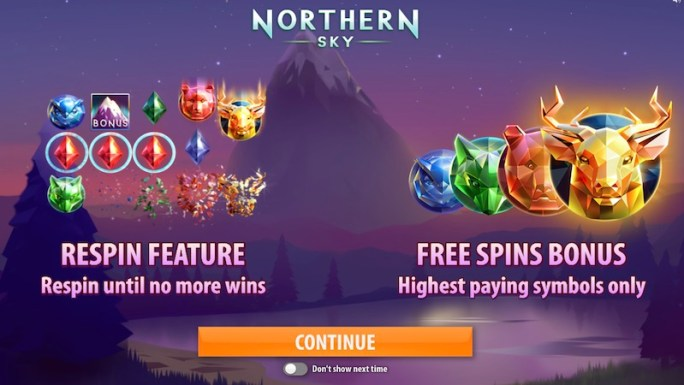 northern sky slot rules