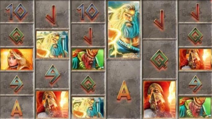 gods of olympus megaways slot gameplay