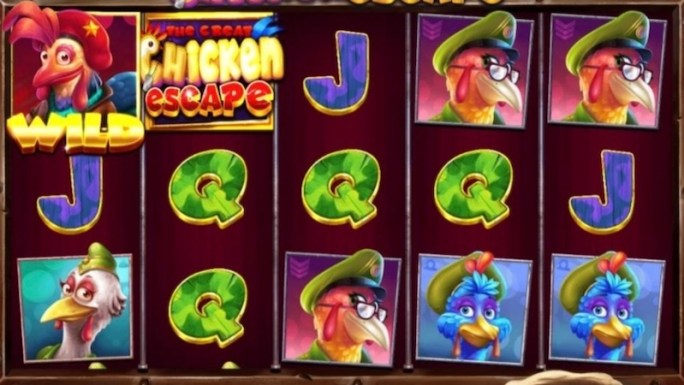 the great chicken escape slot gameplay
