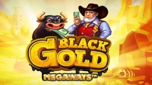 black gold megaways slot logo