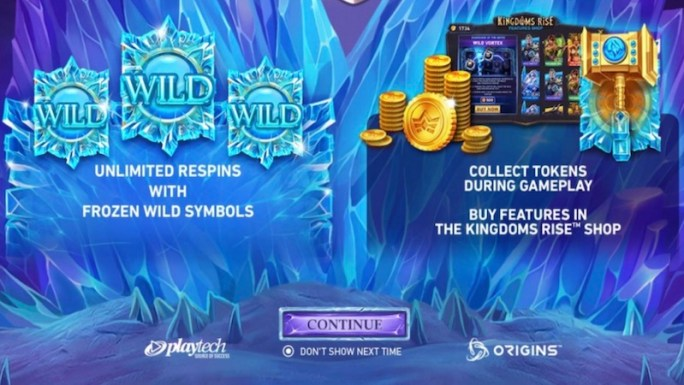 kingdoms rise reign of ice slot rules