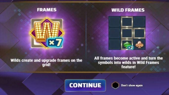 wild frames slot rules