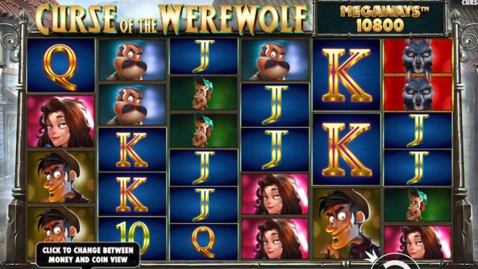 curse of the werewolf slot gameplay