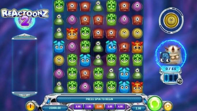 reactoonz 2 slot gameplay