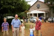 Torin, Ryan, Bronwyn, Gwennyth, & Evan in front of St. Matthew's.