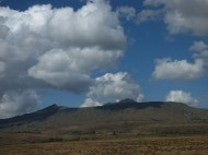 Mt. Longonot, or what remains of it after a volcanic eruption