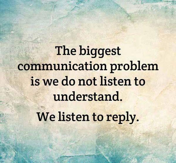 Seek Understanding NOT Validation