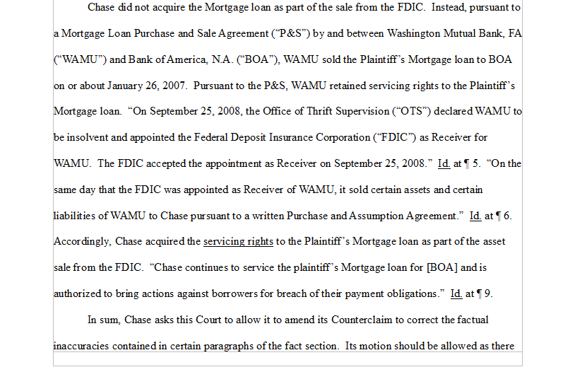 Chavez V Jpmorgan Chase Bank Na Chase Did Not Acquire The