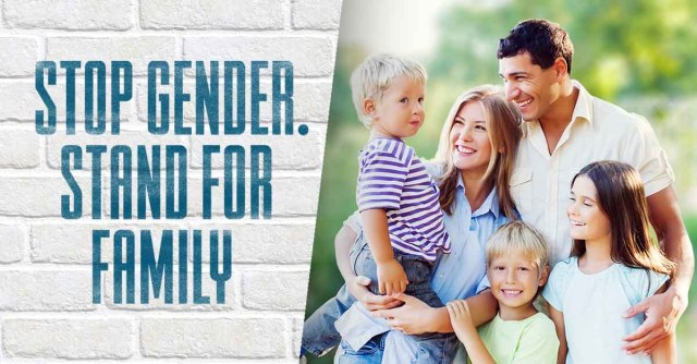 petice - Stop Gender Convention. Stand For Family