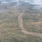 Flying over the Chadian desert