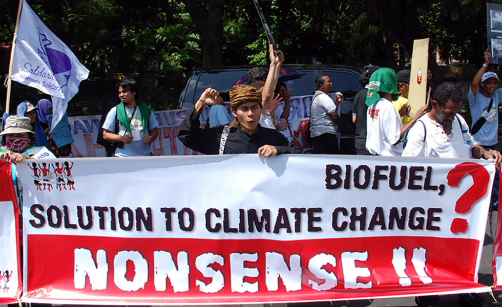 Industry Hype & Misdirected Science Undercuts Real Energy/Climate Solutions. Photo: Orin Langelle
