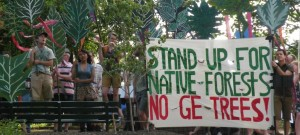 Protest at Tree Biotech Conference 2013