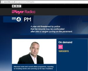 Click the picture to listen to the BBC Radio 4 interview.