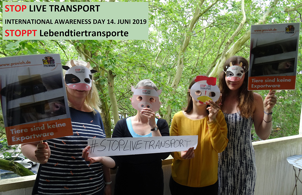 Stop Live Transport Day of Action Germany