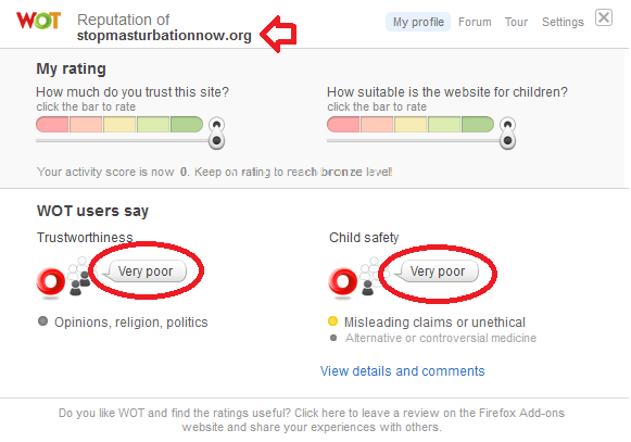 "Web of ""Trust"" targets SMN.Org using ridiculous ratings."