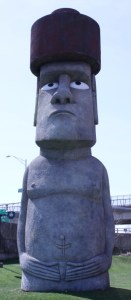 waterbury's easter island head