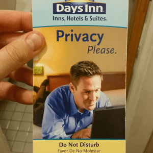 Days Inn - Pro Masturbation hotel (source: blockheadnyc@instagram.com)