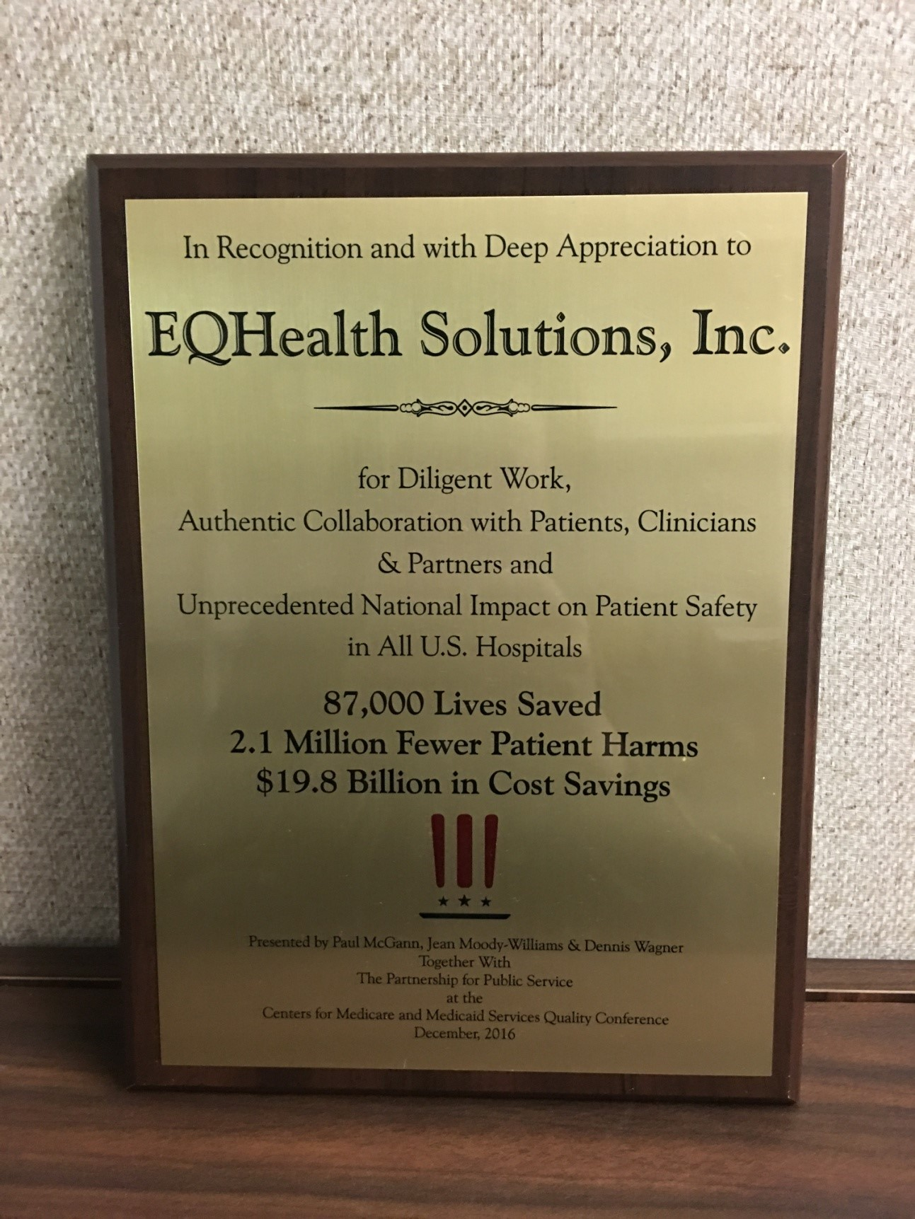 eQHealth Solutions Receives CMS Services Award