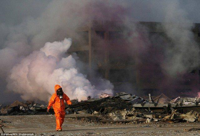 Purple haze indiquant la présence de niveaux toxiques de gaz le fluor, le chlore et le sodium.
