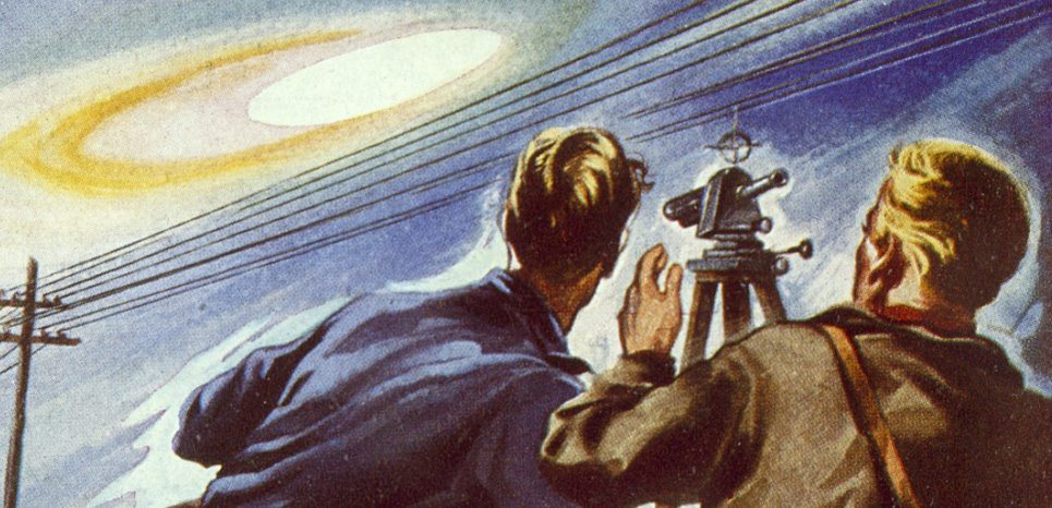 At Boise, Idaho, surveyor E G  Hall sees a UFO through his  surveying instrument        Date: 20 February 1948