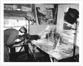 Ray Harryhausen Animating